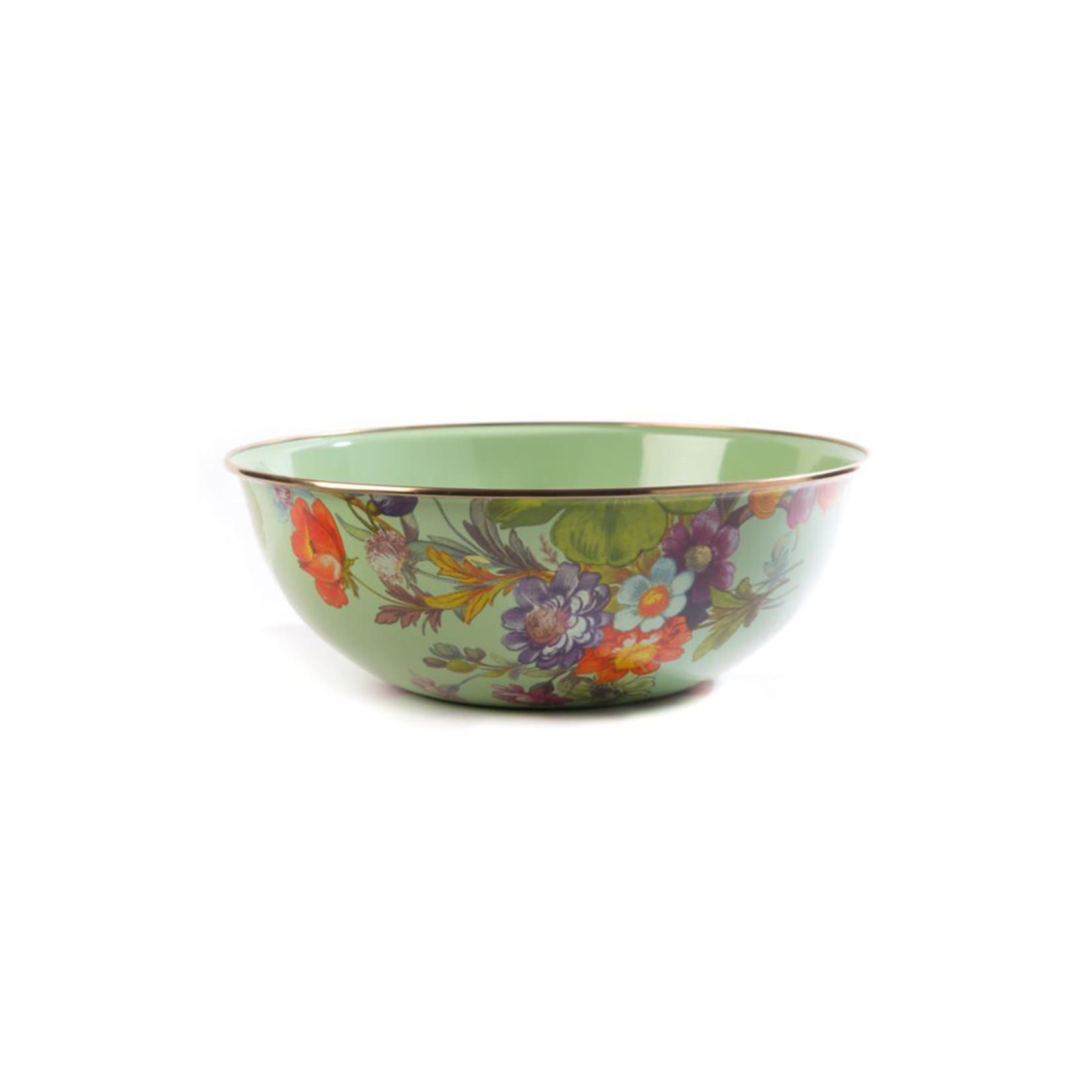 MacKenzie Childs Flower Market Extra Large Everyday Bowl - Green