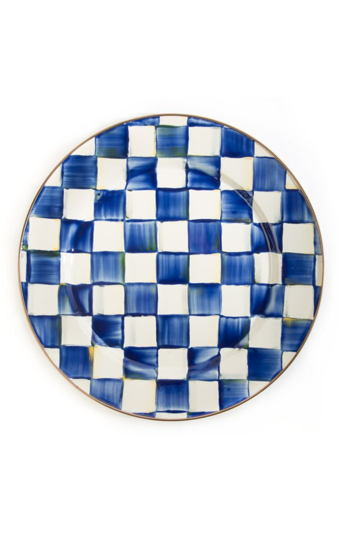 MacKenzie Childs Royal Check Charger Plate
