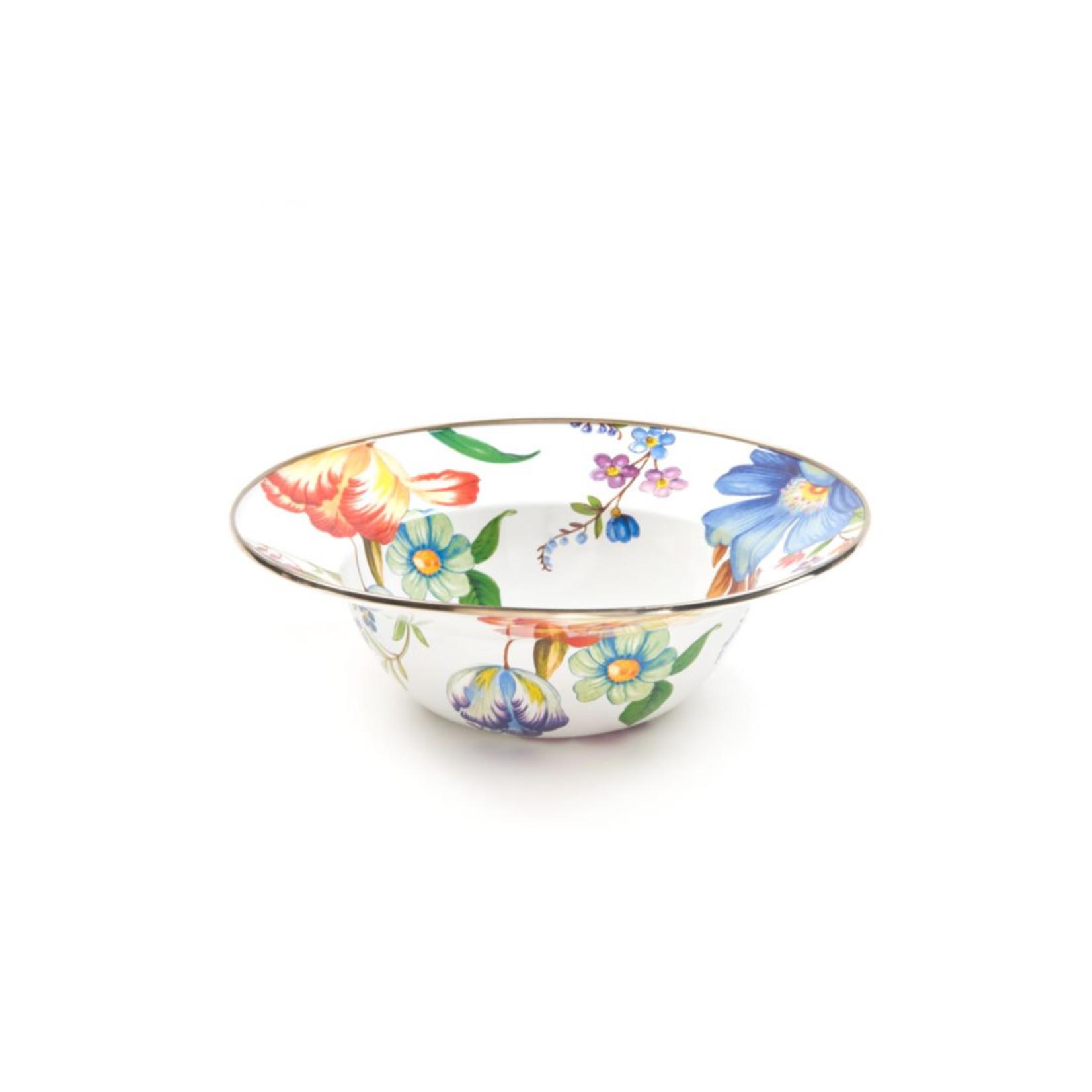 MacKenzie Childs Flower Market serving bowl - white