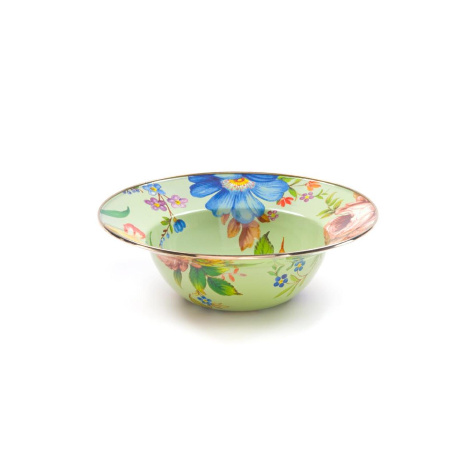 MacKenzie Childs Flower market Serving Bowl - Green