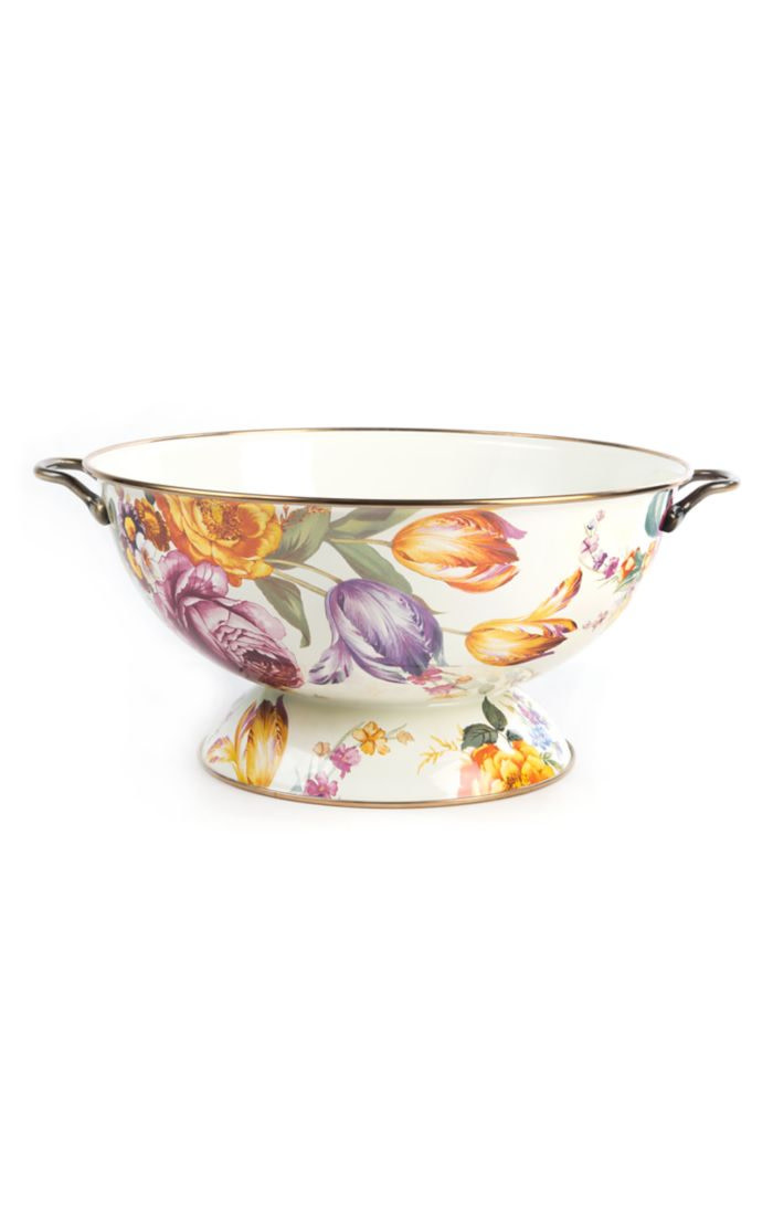 MacKenzie Childs Flower Market Everything Bowl - White