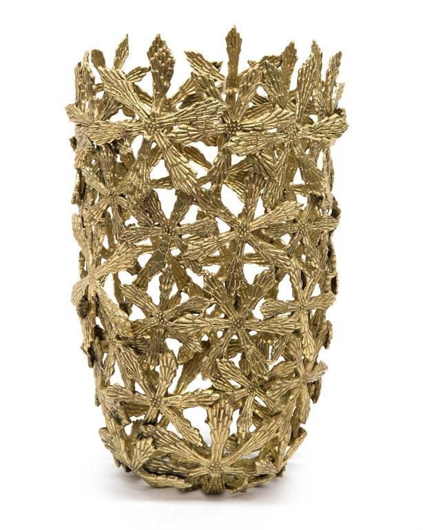 John Richard Cast Brass Shasta Vase
