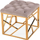 Skylar Grey Velvet Small Bench