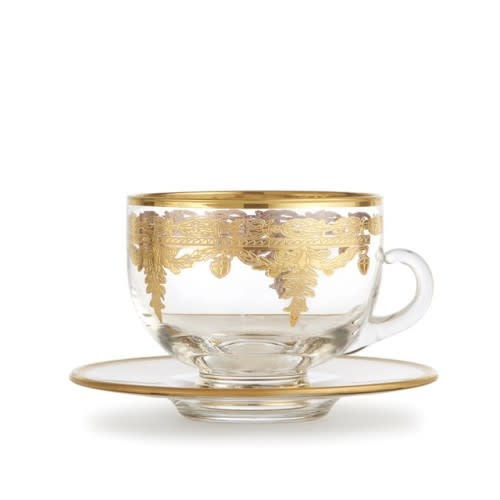 Gold Coffee Cup/Saucer