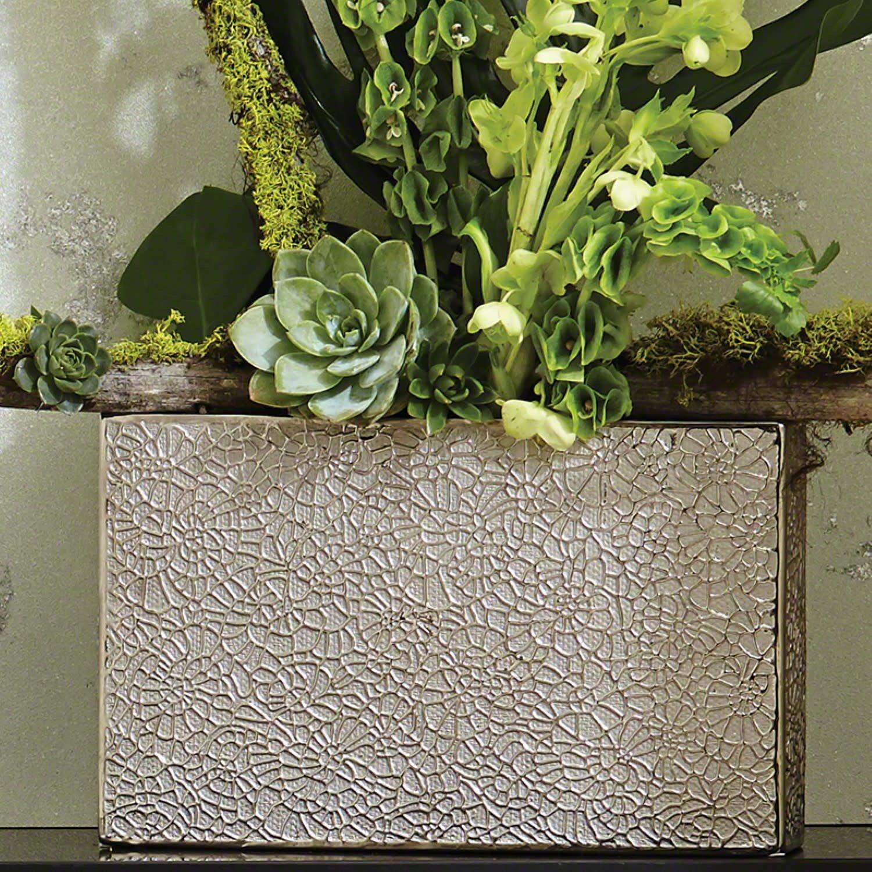 Organic Lace Vase Silver - Small