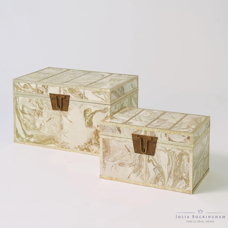 Treasure Trunk-Gold/Creme-Small