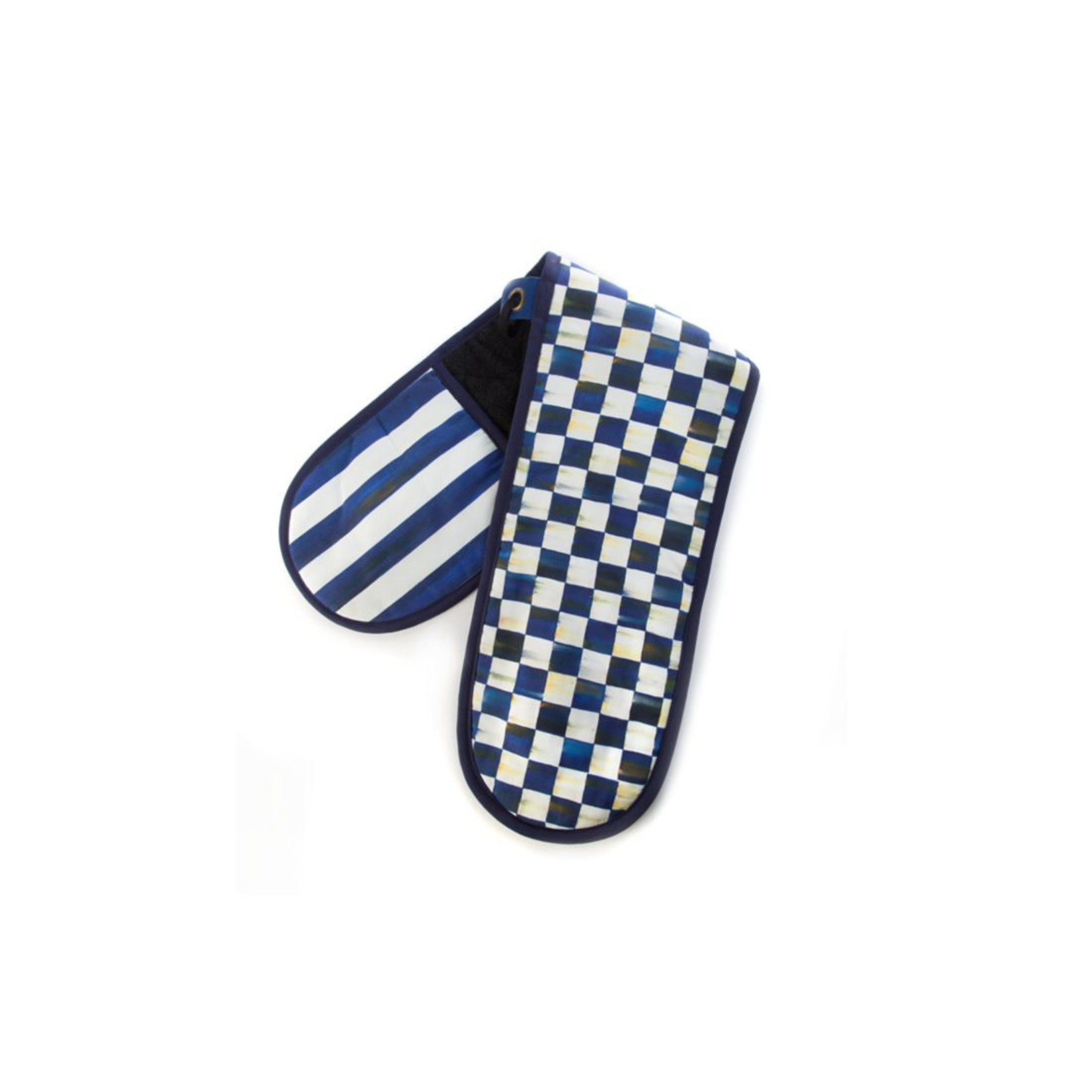 MacKenzie Childs Royal Check Double Oven Mitt - Large