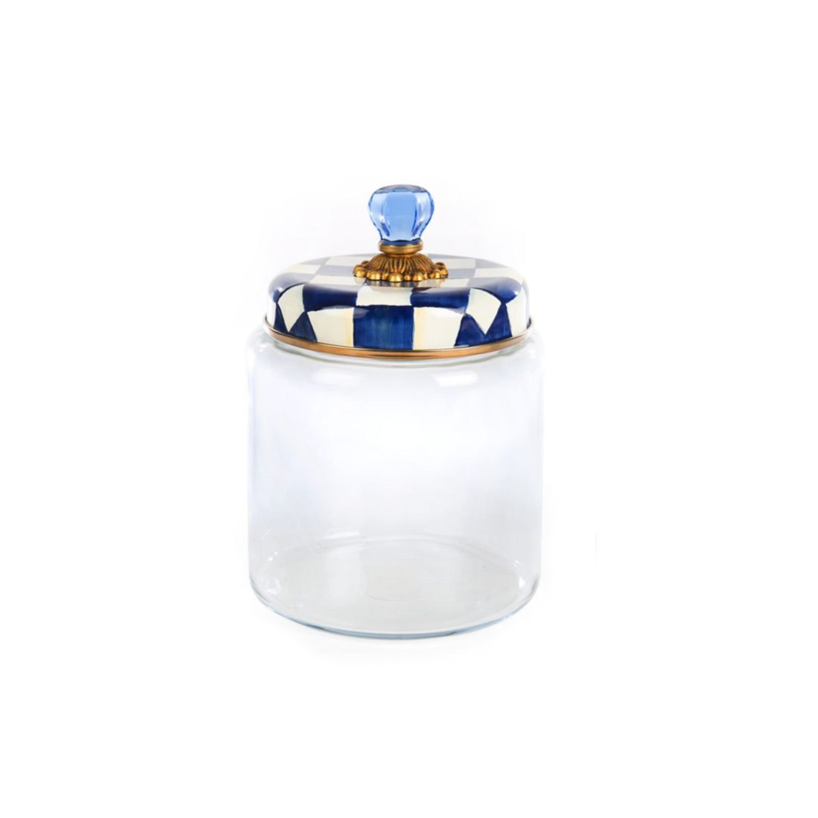 MacKenzie Childs Royal Check Kitchen Canister - Large
