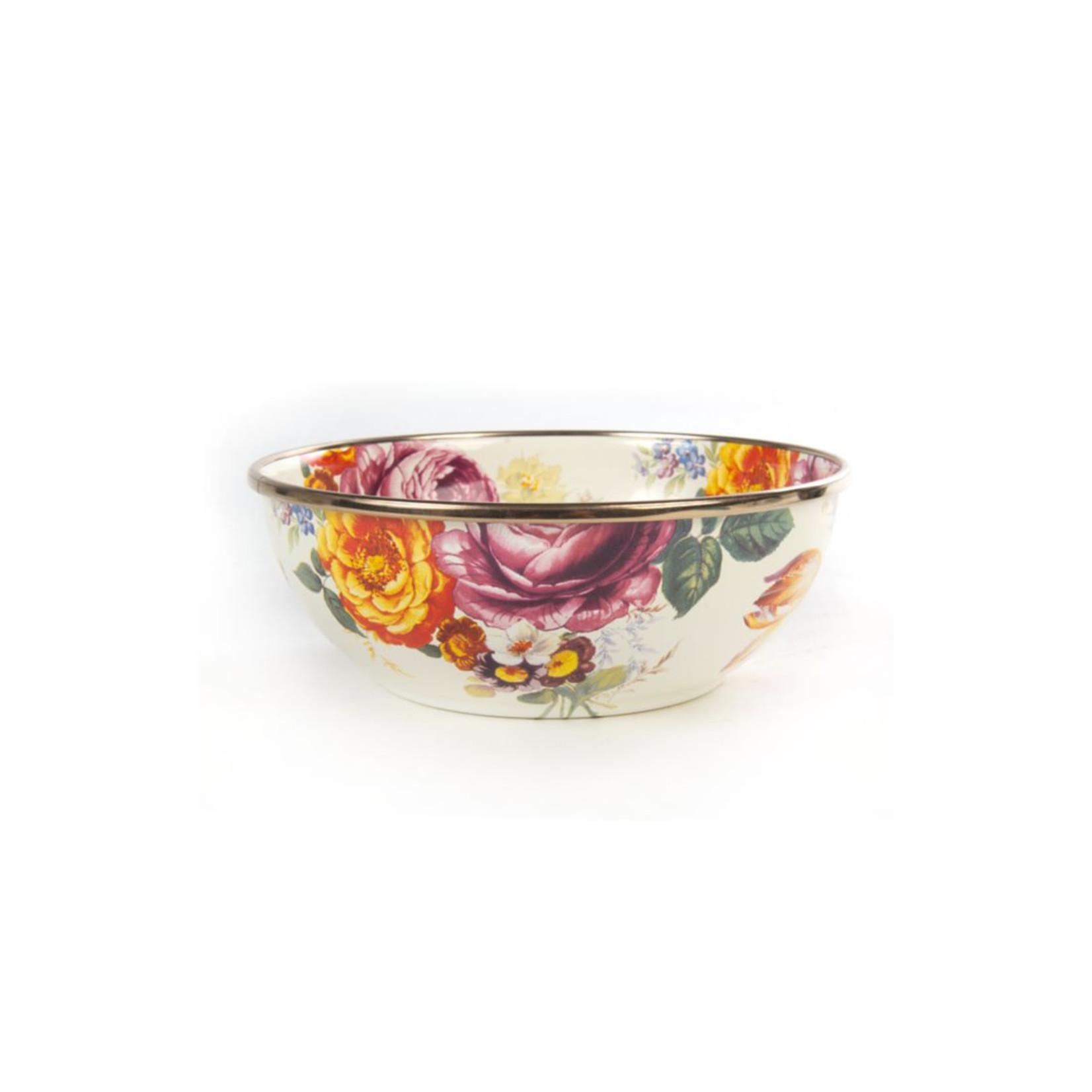MacKenzie Childs Flower Market Everyday Bowl - White