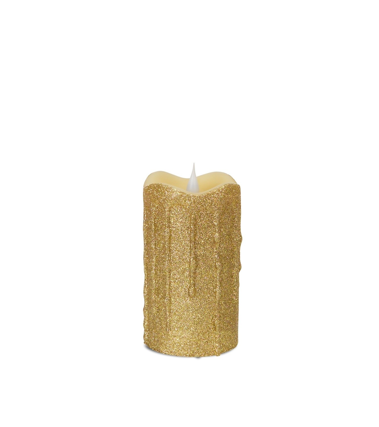LED Glittered Dripping Candle with moving flame