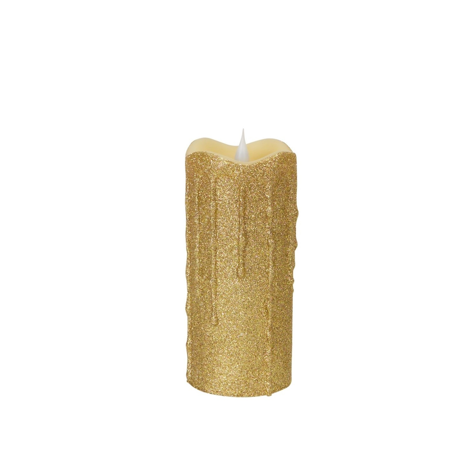Glittered Dripping candle with moving flame