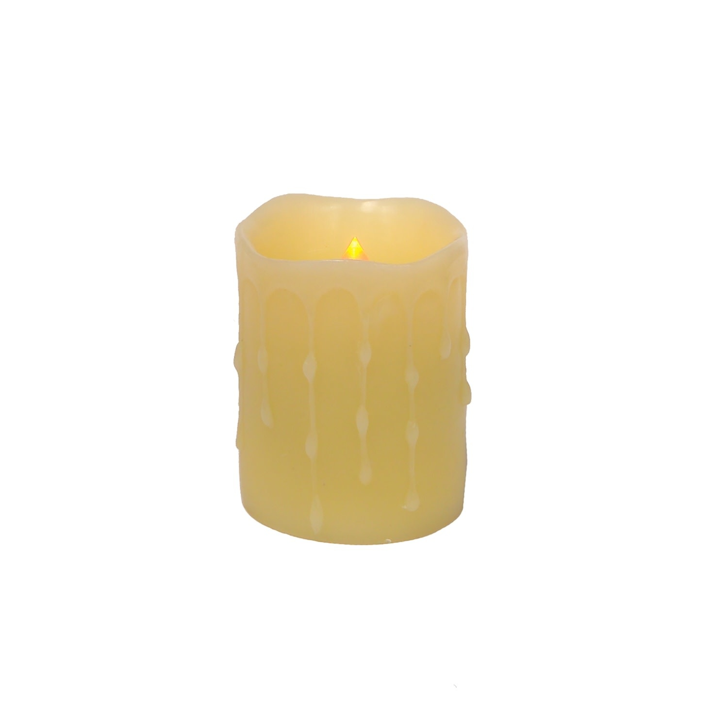 LED Wax Dripping Pillar Candle