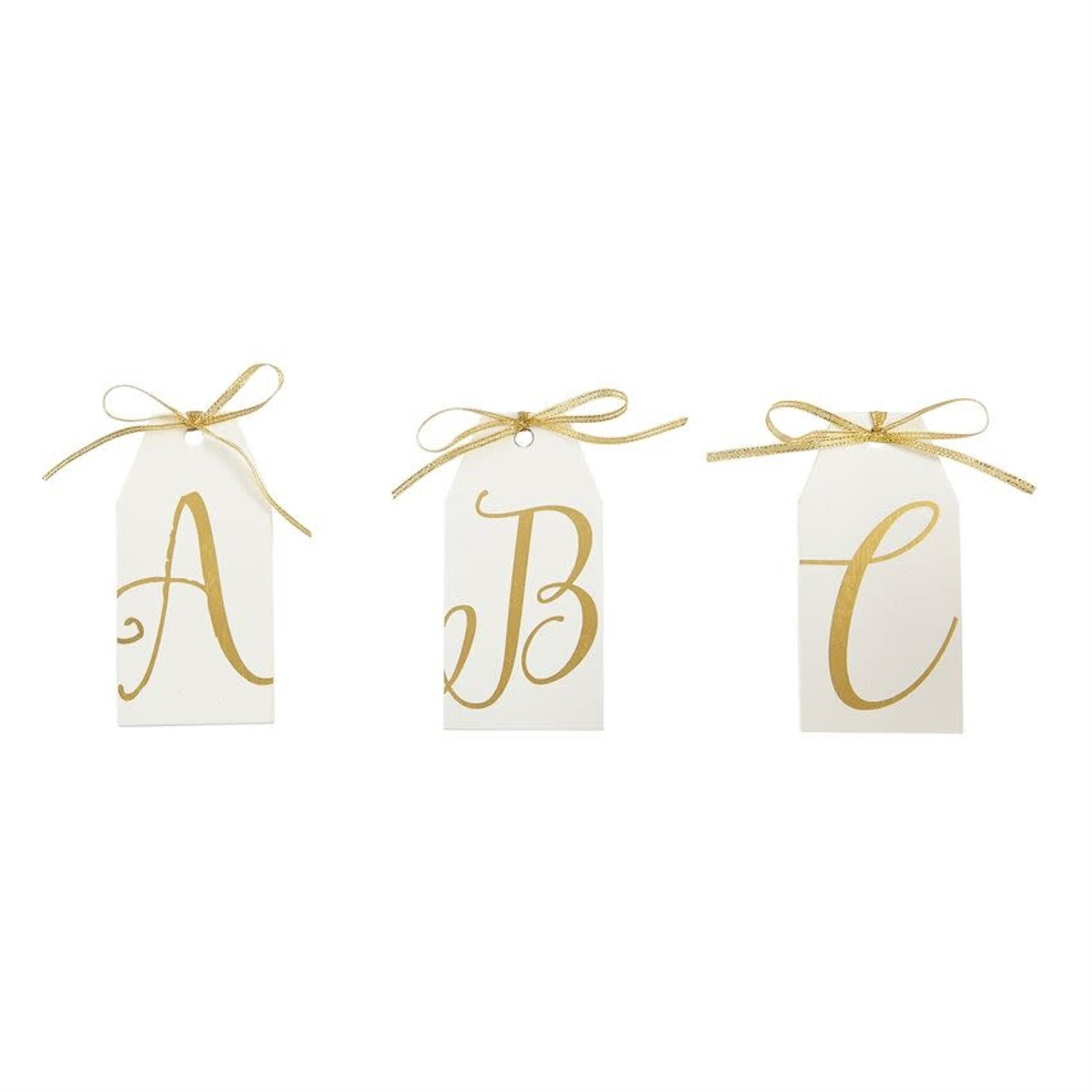 MudPie Gold Initial Wood Tags Assortment