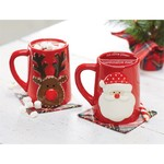 MudPie Marshmallow Stash Mugs - Reindeer or Santa