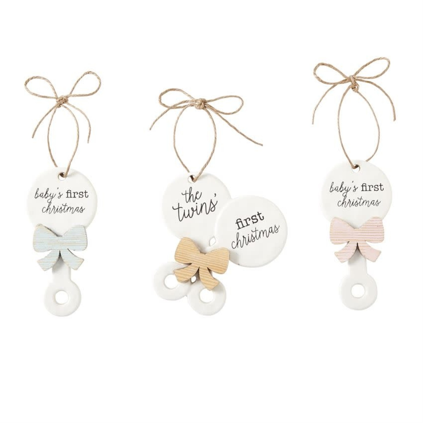 MudPie Girl First Christmas Ornament