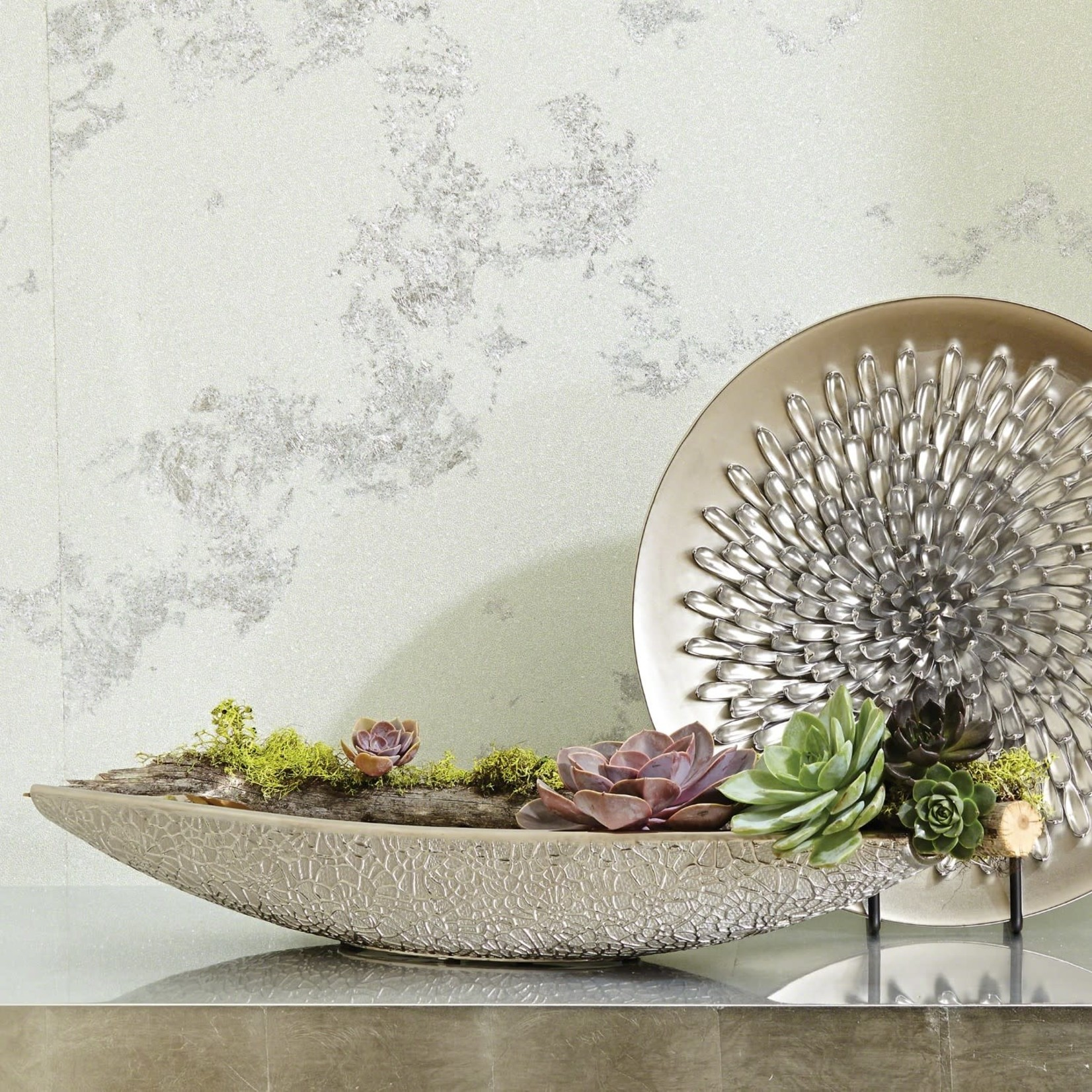 Organic Lace Bowl Silver