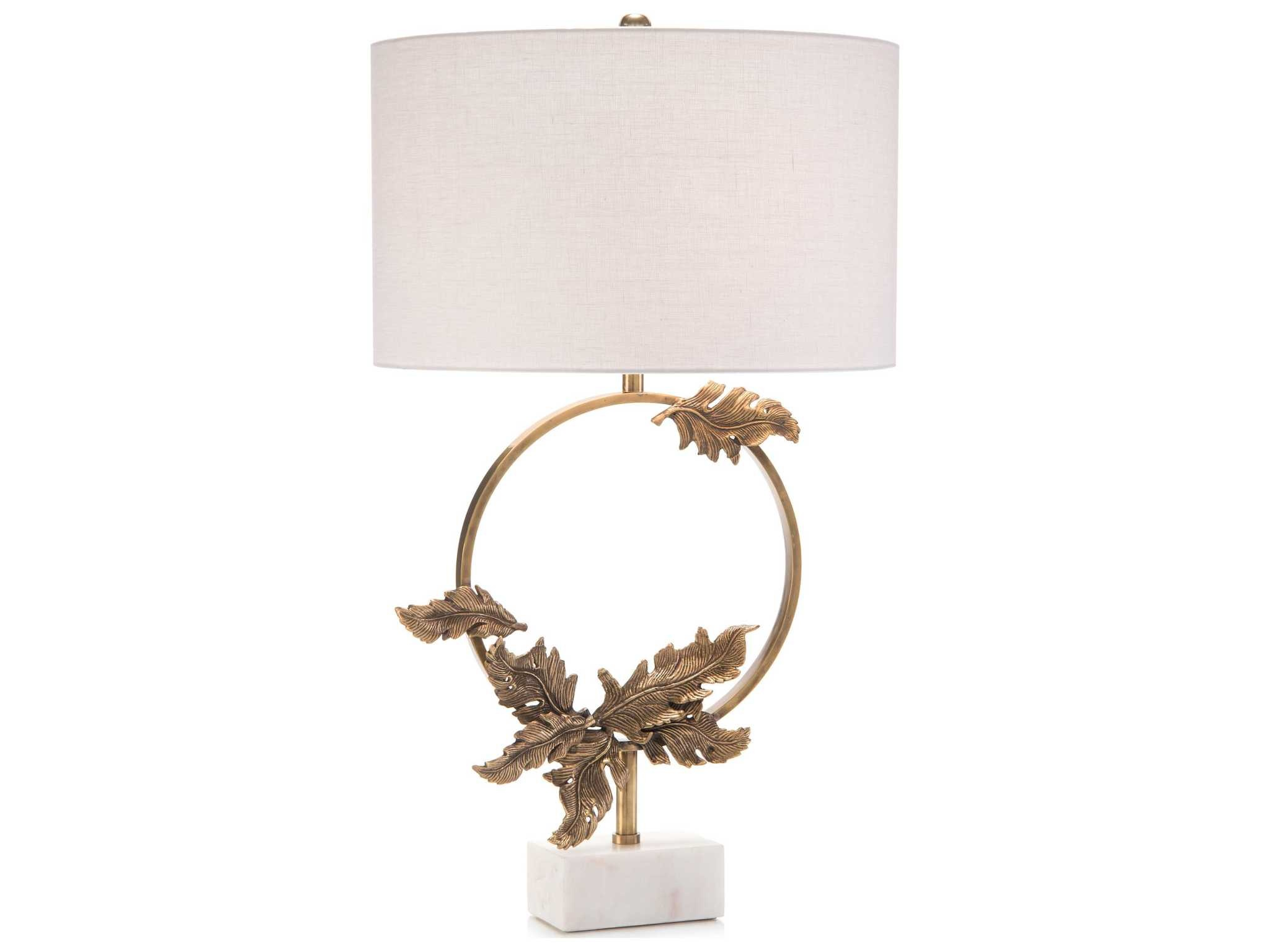 John Richard Brass Wreath table Lamp