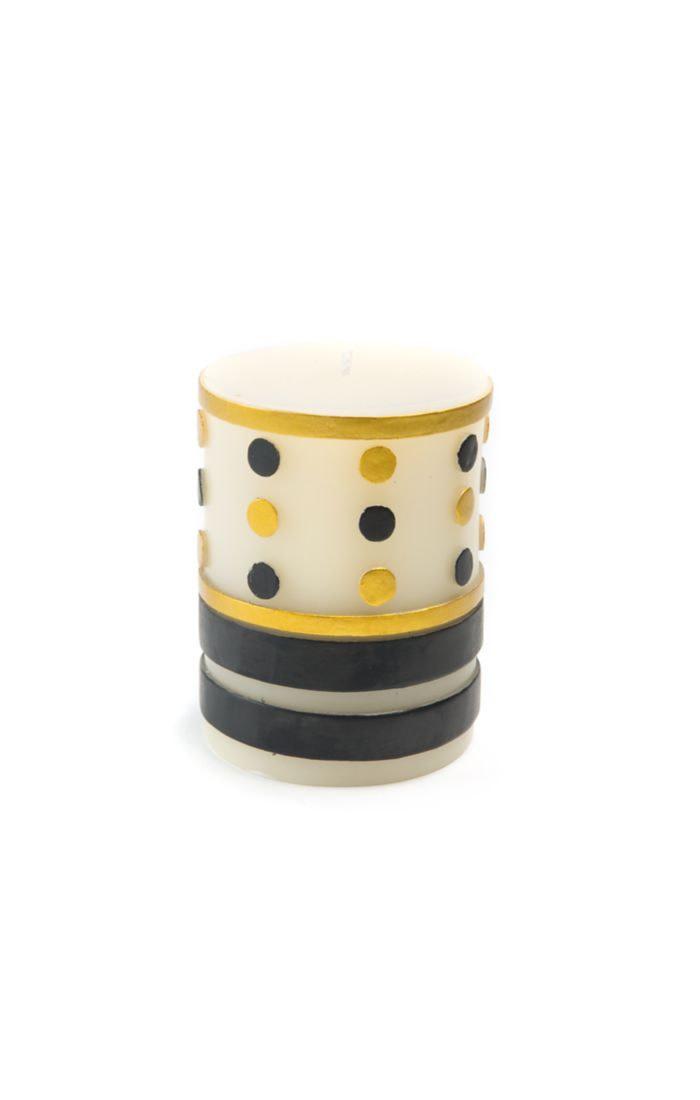 "MacKenzie Childs Jester Pillar Candle - 4"""