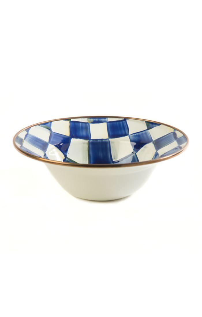 MacKenzie Childs Royal Check Breakfast Bowl