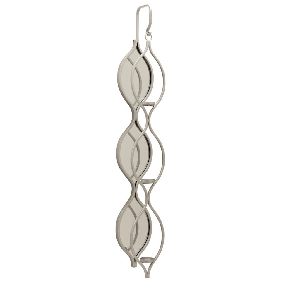 TOLLY WALL CANDLE HOLDER- SILVER