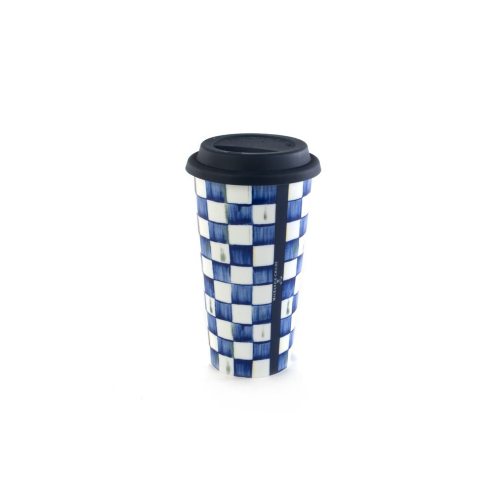 MacKenzie Childs Royal Check Travel Cup