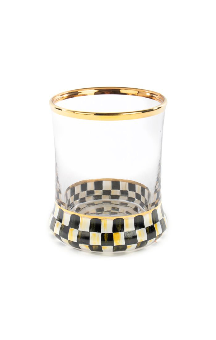 MacKenzie Childs Courtly Check Tumbler