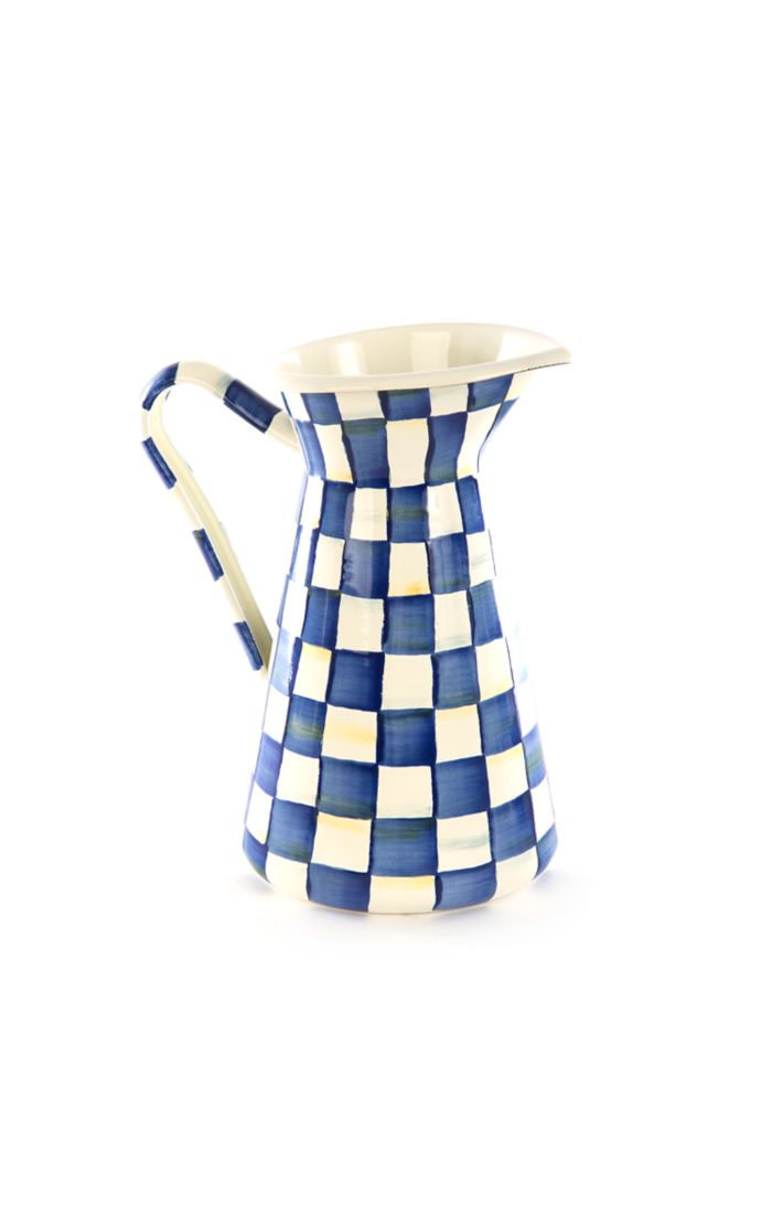 MacKenzie Childs Royal Check Practical Pitcher - Large
