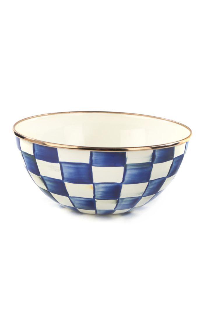 MacKenzie Childs Royal Check Everyday Bowl - Small