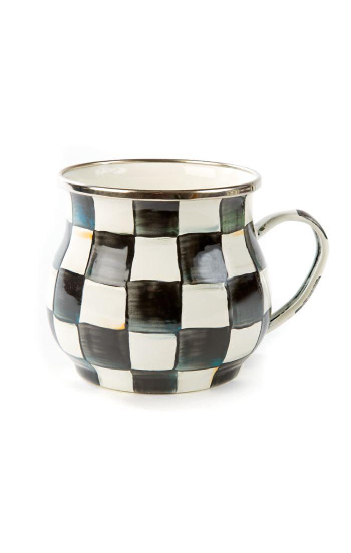 MacKenzie Childs Courtly Check Coffee Mug
