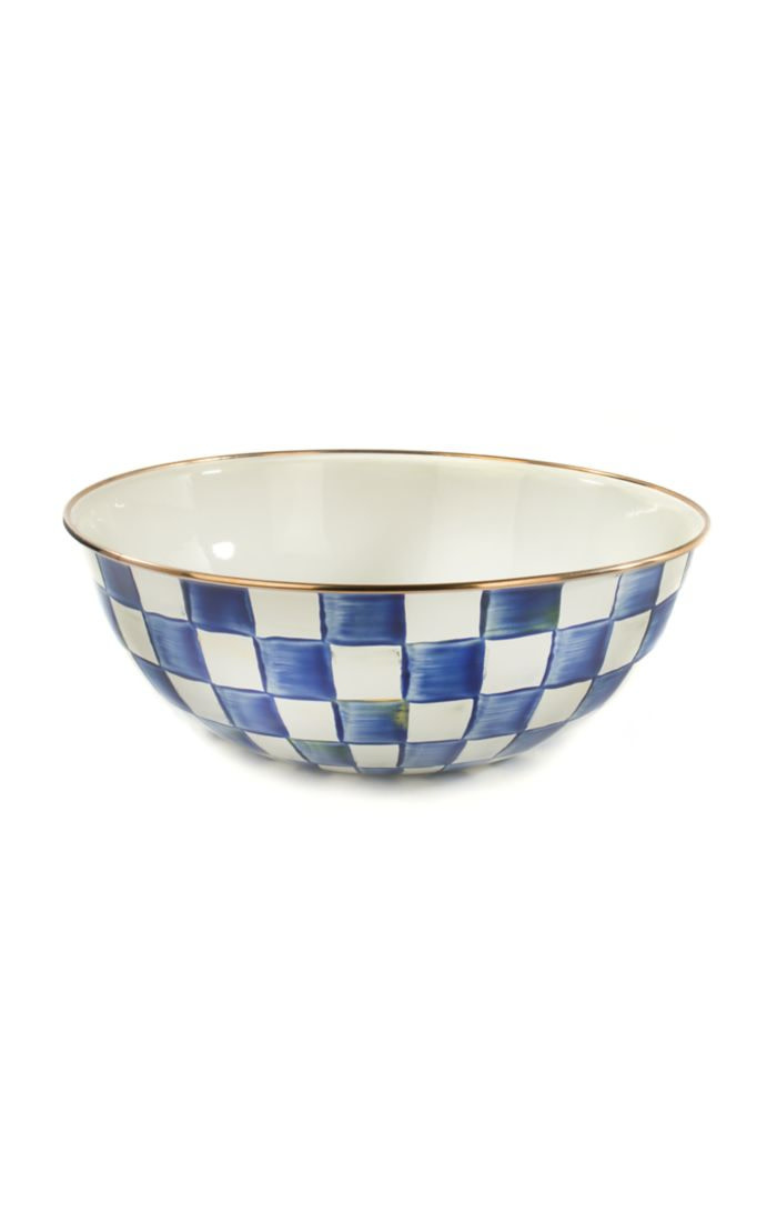 MacKenzie Childs Royal Check  Everyday Bowl - Extra Large