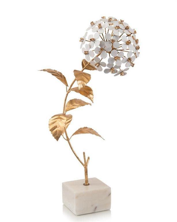 John Richard Hydrangea in Gold and White