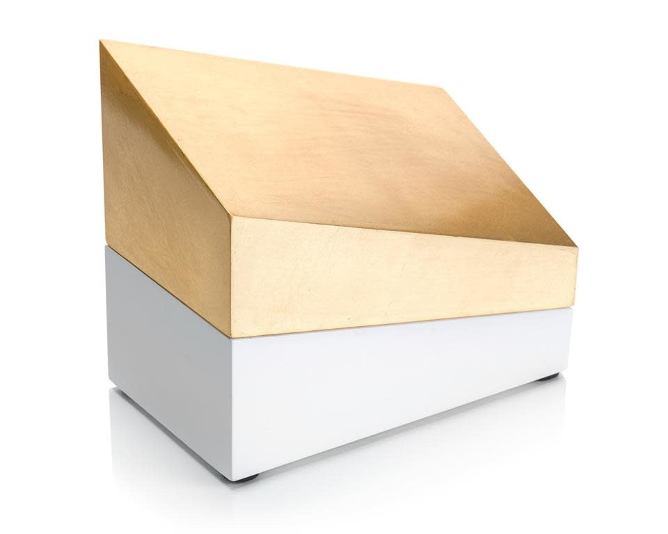 John Richard Cubist Box Gold and White I
