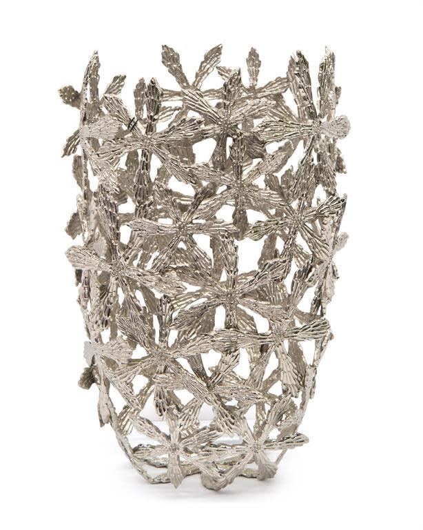John Richard Cast Brass Shasta Vase in Nickel