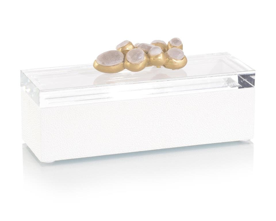 John Richard Encased White Alabaster Box