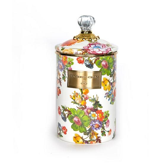 MacKenzie Childs Flower Market Large Canister