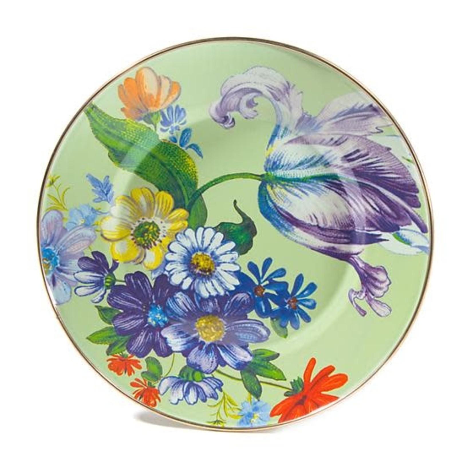 MacKenzie Childs Flower Market Dinner Plate - Green