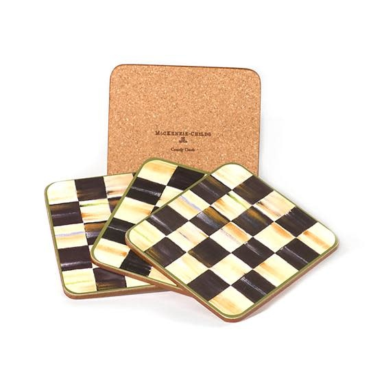 MacKenzie Childs Courtly Check Coasters