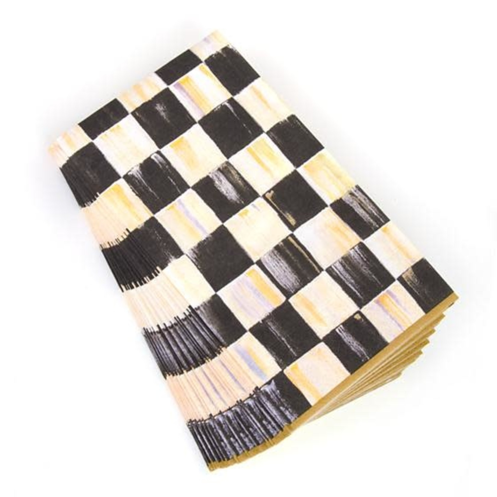 MacKenzie Childs Courtly Check Paper Napkins - Guest - Gold