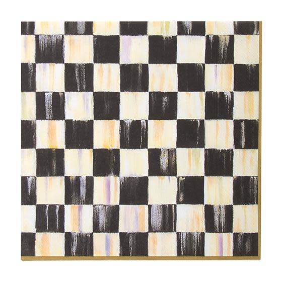 MacKenzie Childs Courtly Check Paper Napkins - dinner - gold