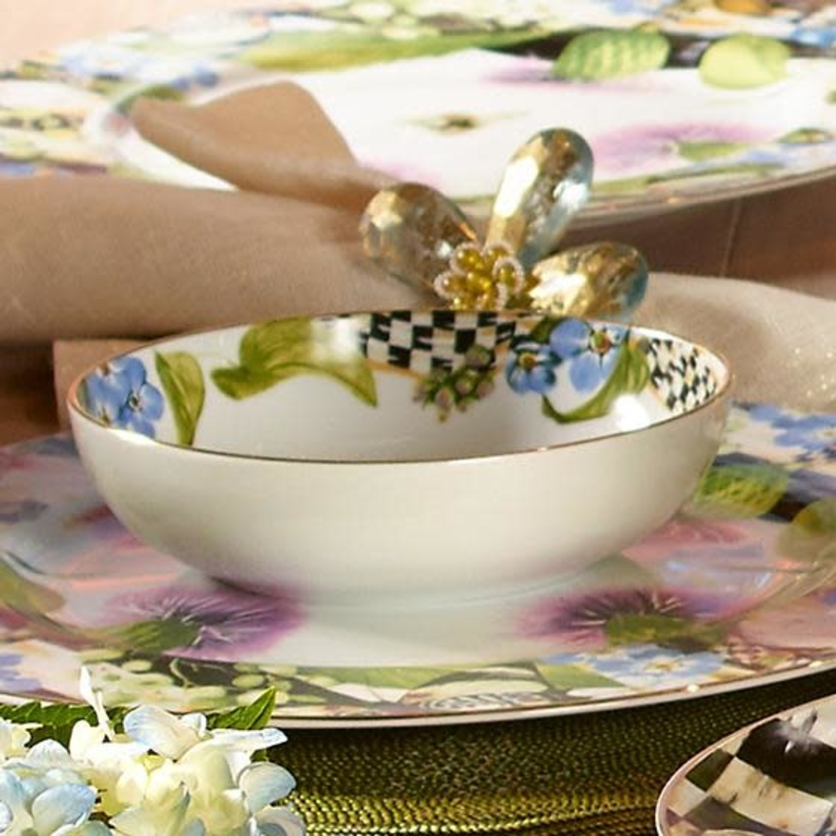 MacKenzie Childs Thistle & Bee Soup Bowl