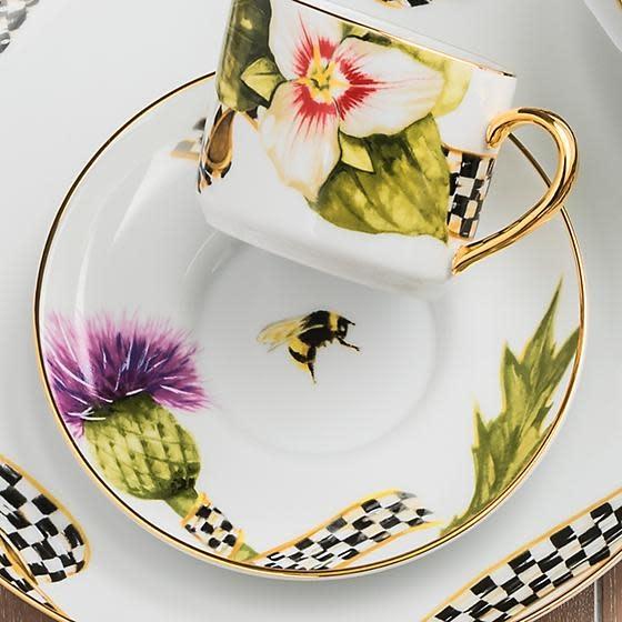 MacKenzie Childs Thistle & Bee Saucer
