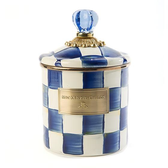 MacKenzie Childs Royal Check Canister - Small