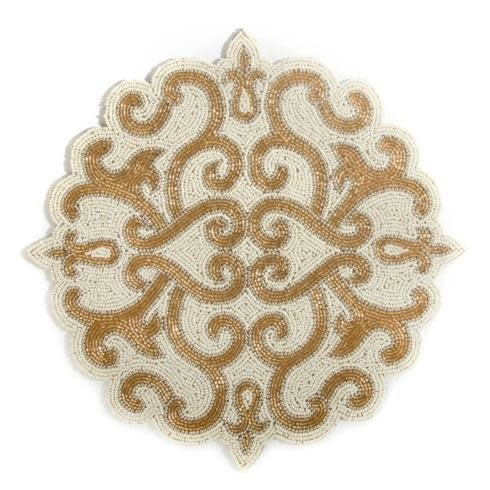 MacKenzie Childs Scroll Beaded Placemat
