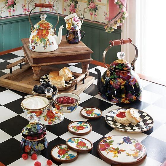 MacKenzie Childs Flower Market Coasters - Set of 4
