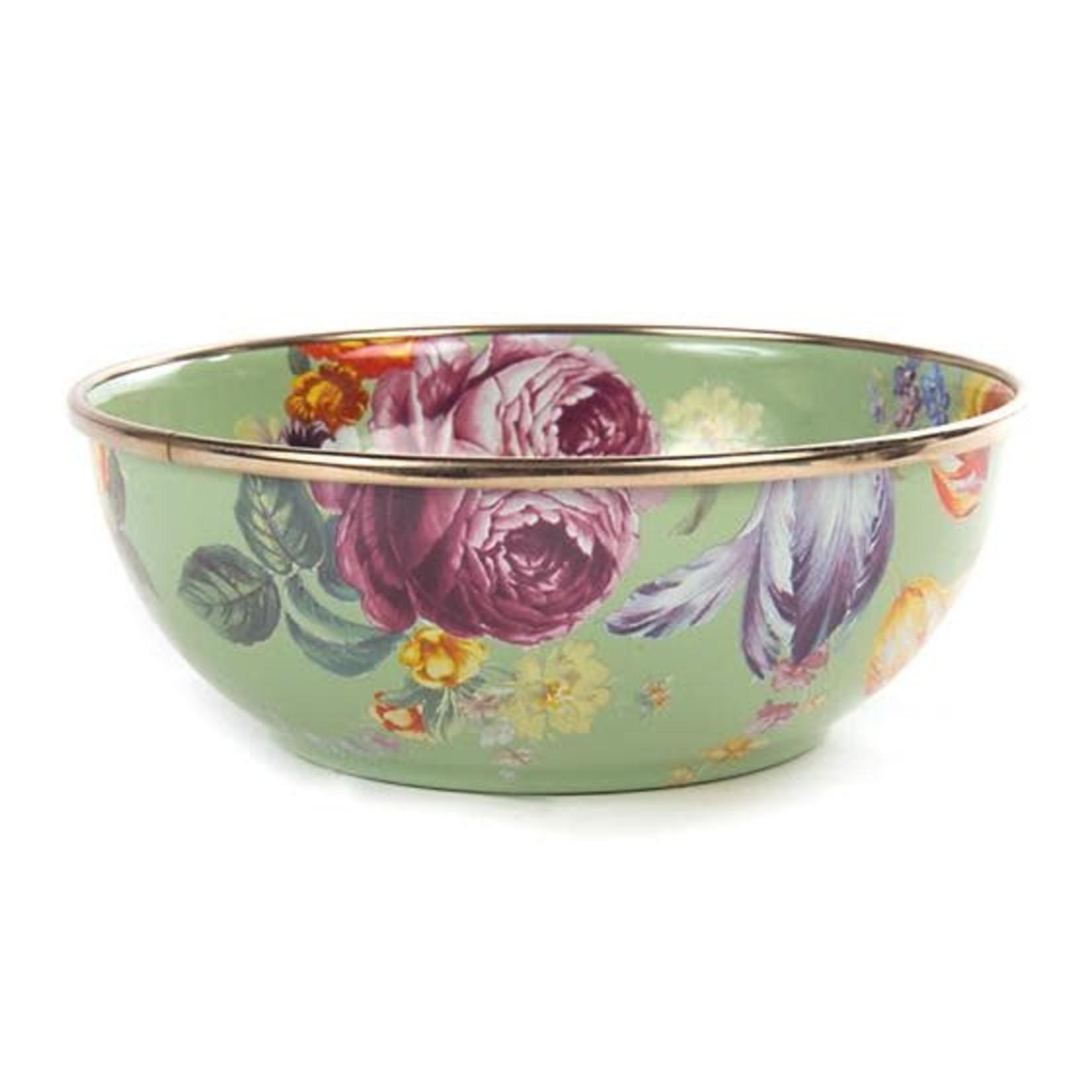 MacKenzie Childs Flower Market Everyday Bowl - Green