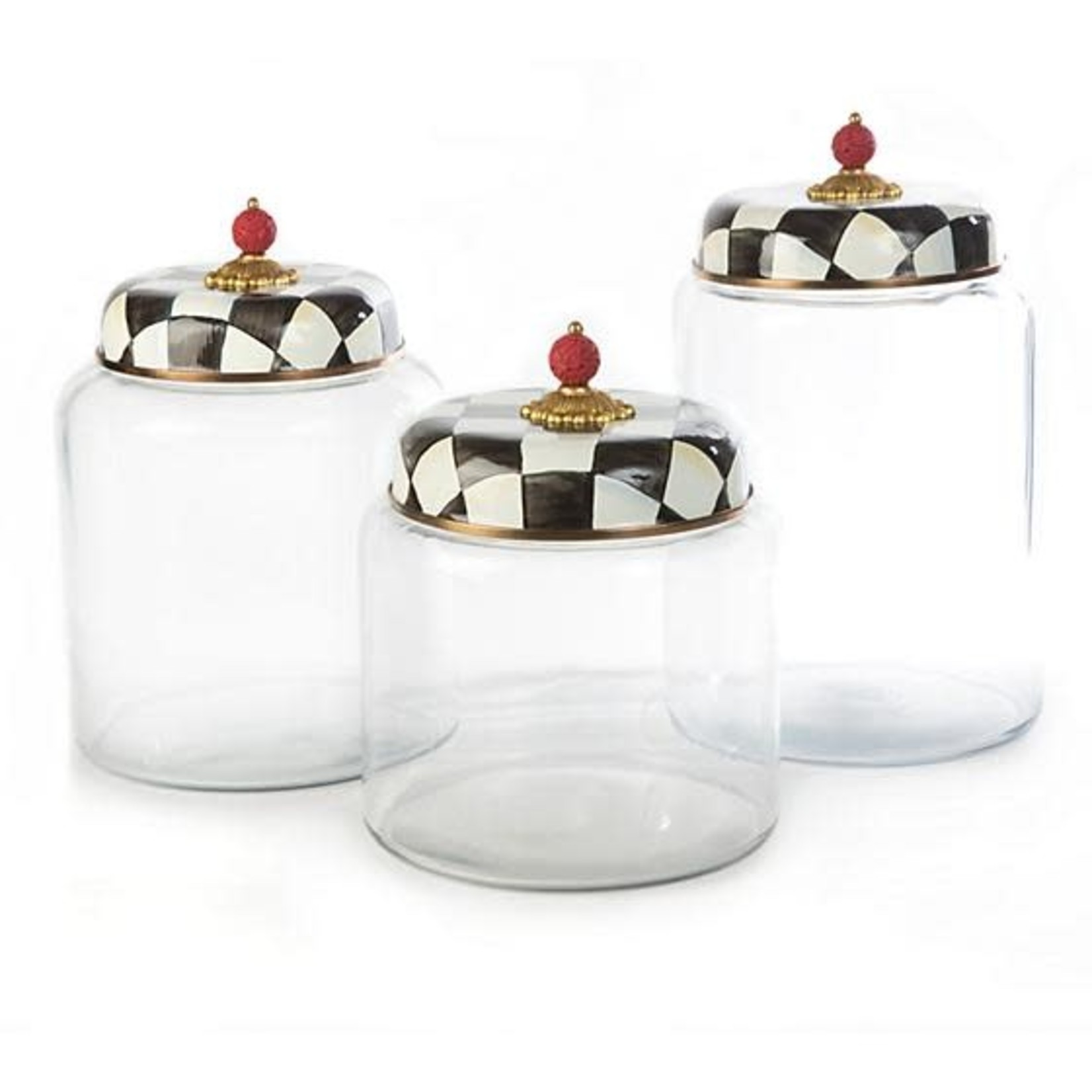 MacKenzie Childs Courtly Check Storage Canister - Biggest