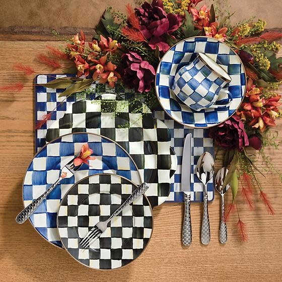 MacKenzie Childs Courtly Check Cork Back Placemats - Set of 4