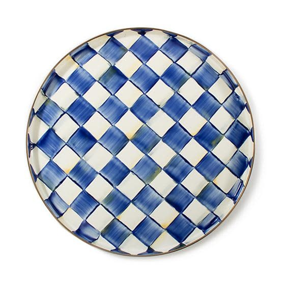 MacKenzie Childs Royal check Round Tray
