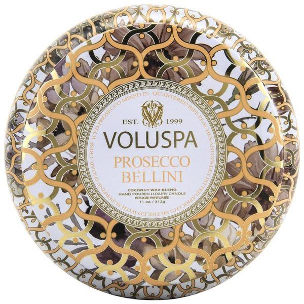 Voluspa Prosecco Bellini 2 wick maison metallo candle