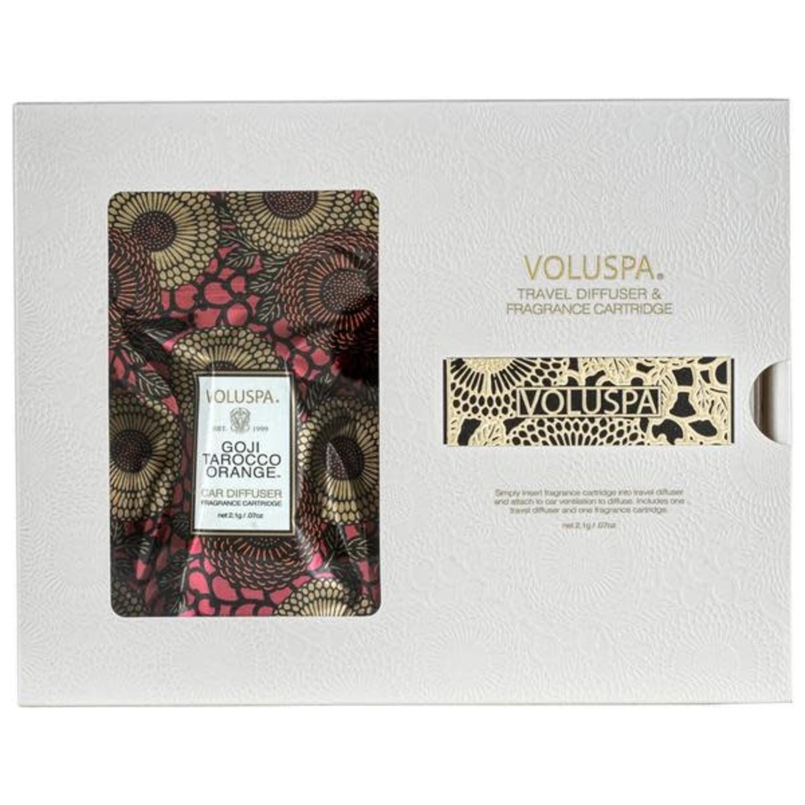 Voluspa Goji Tarocco Orange Travel Diffuser and Fragrance Cartridge